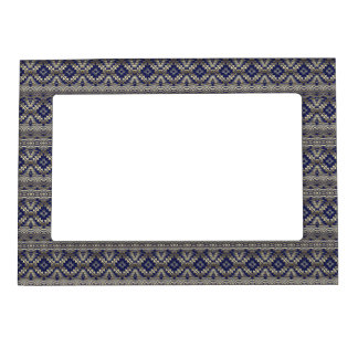 ethnic  seamless pattern magnetic frame
