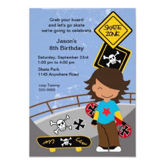 Ethnic Skateboarding Birthday Party Invitation