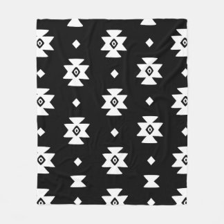 Ethnic Slavic native ornament boho bulgarian kilim Fleece Blanket