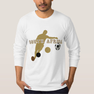 Ethnic South Africa Earth Tones Soccer player Tees