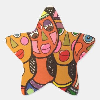 ethnic star sticker