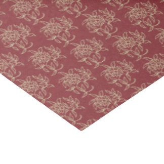 Ethnic Style Floral Mini-print Beige on Maroon Tissue Paper