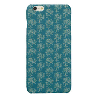 Ethnic Style Floral Mini-print Beige on Teal