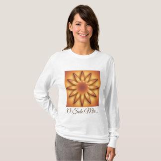 Ethnic Sun. Sole mio. Geometric gradient texture. T-Shirt