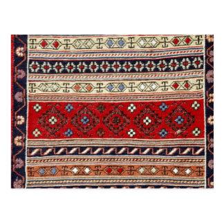 Ethnic Tapestry Print Postcard