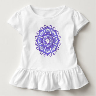 Ethnic teal mandala. monogram. toddler T-Shirt