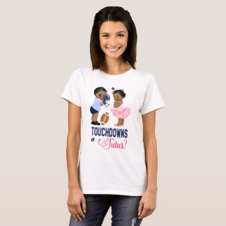 Ethnic Touchdowns or Tutus Baby Gender Reveal T-Shirt