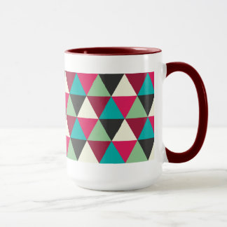 Ethnic Trendy Geometric Triangles Pattern Mug