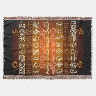 Ethnic Tribal African Graphic Throw Blanket