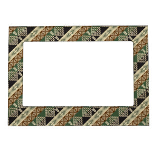 ethnic tribal african pattern magnetic frame