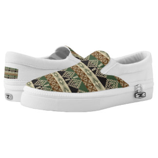 ethnic tribal african pattern slip on shoes