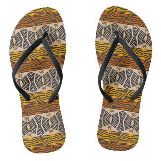 ethnic tribal african pattern thongs