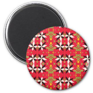 ETHNIC Tribal EMBROIDERED VINTAGE pattern 6 Cm Round Magnet