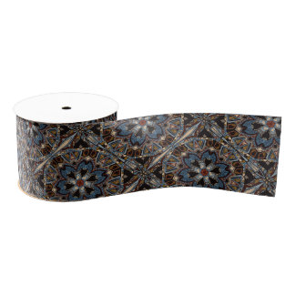 Ethnic tribal fashion abstract pattern grosgrain ribbon