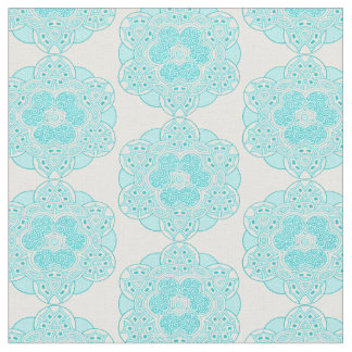 Ethnic turquoise pattern 2 fabric