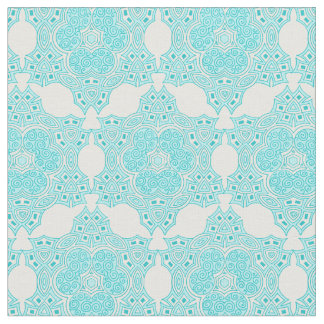 Ethnic turquoise pattern fabric