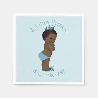 Ethnic Vintage Little Prince Baby Shower Blue Disposable Serviette