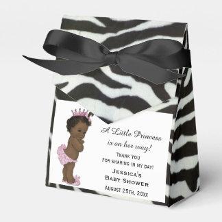 Ethnic Vintage Princess Baby Shower Zebra Pattern Party Favor Box