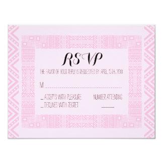 Ethnic Wedding RSVP Response Card Personalized #2 11 Cm X 14 Cm Invitation Card
