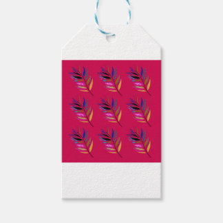 ETHNO DESIGN Leaves Pink Gift Tags