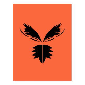 Ethno design orange postcard