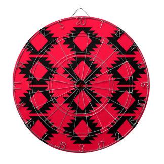 Ethno design  Red  mayan design Dartboard
