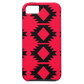 Ethno design  Red  mayan design iPhone 5 Cover