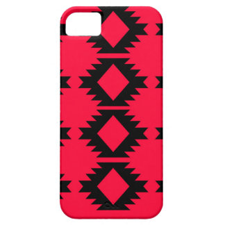 Ethno design  Red  mayan design iPhone 5 Covers