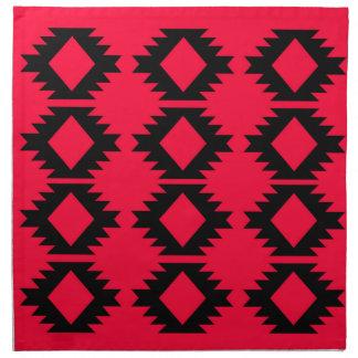 Ethno design  Red  mayan design Napkin