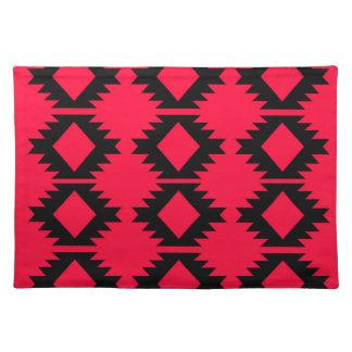 Ethno design  Red  mayan design Placemat