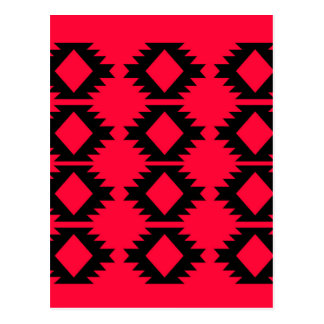 Ethno design  Red  mayan design Postcard
