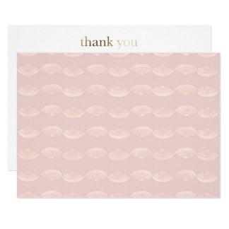 Ethno Rose Quartz Thank You Card