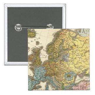 ethnographic map of Europe 15 Cm Square Badge