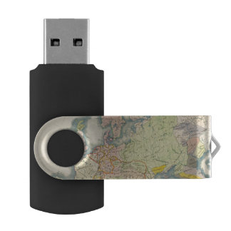 Ethnographic map of Europe USB Flash Drive