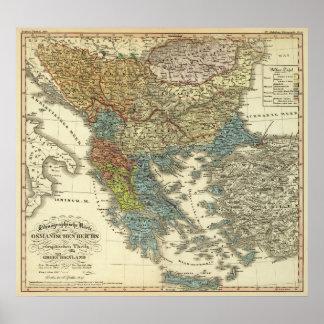 Ethnographic Map of Ottoman Empire Print