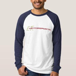 ETM Men's Logo Baseball T (White/Navy) T-Shirt