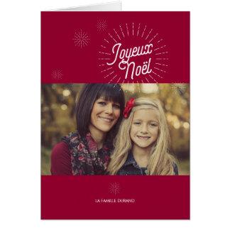 Étoiles Photo de voeux de Noël Card