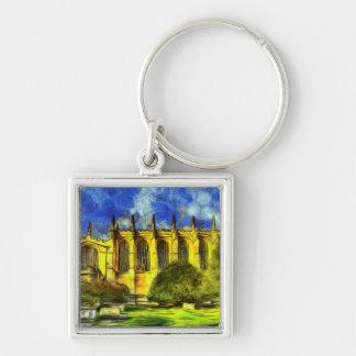Eton College Chapel Art Key Ring