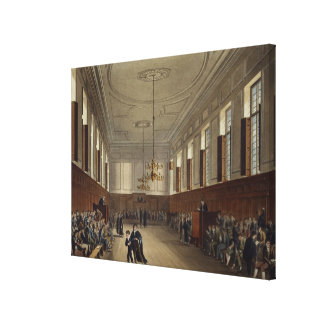 Eton School Room, from 'History of Eton College', Canvas Prints