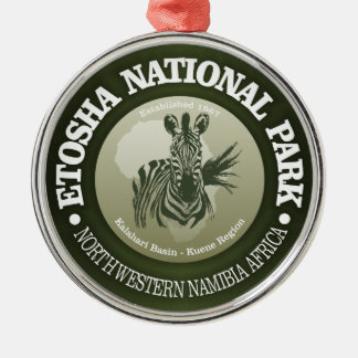 Etosha National Park Silver-Colored Round Decoration