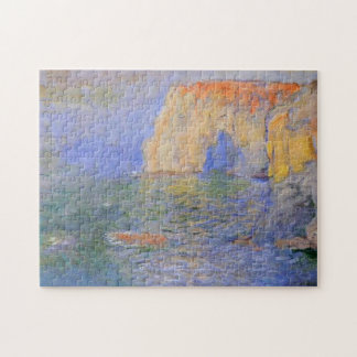 Etretat Cliff Reflections on Water Monet Fine Art Jigsaw Puzzle