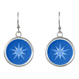 Etta's Star Circle Drop Earrings