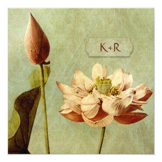 Etude de Fleurs Vintage Wedding Square 13 Cm X 13 Cm Square Invitation Card