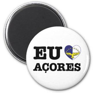 Eu Amo Açores 6 Cm Round Magnet