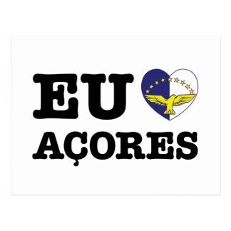 Eu Amo Açores Postcard