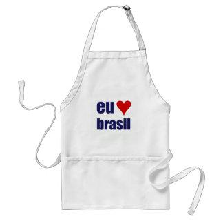 eu amo brasil standard apron