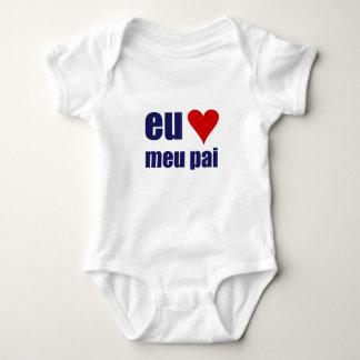 eu amo meu pai baby bodysuit