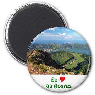 Eu Amo os Açores 6 Cm Round Magnet