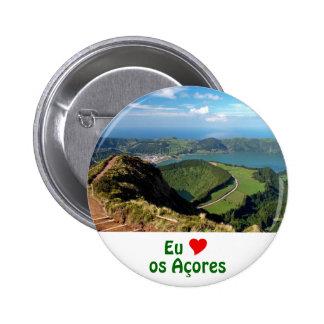 Eu Amo os Açores Pinback Buttons