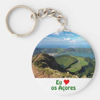 Eu Amo os Açores Keychain